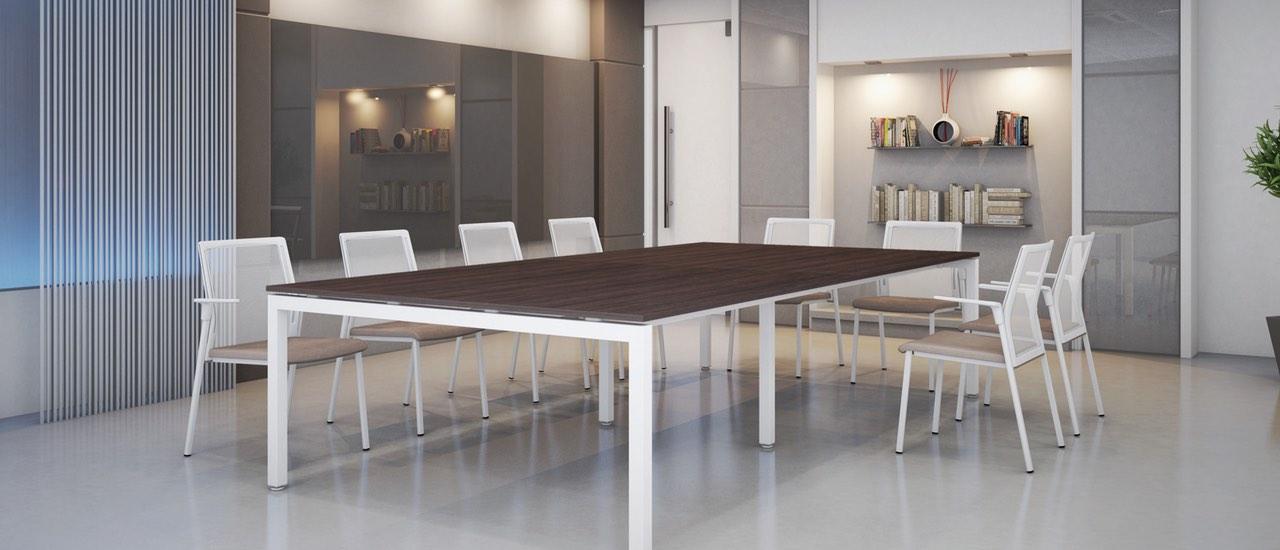 Mesa de reuni n estructura met lica 01 studio3 - Estructura metalica mesa ...